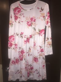 New white floral dress