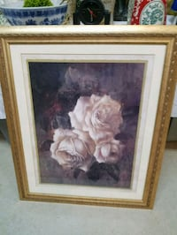 white and brown flower painting with brown wooden frame Crestwood, 60418