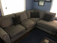 Sectional couch grey micro fiber Chesapeake, 23320