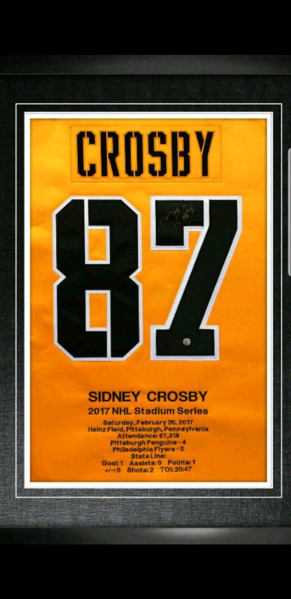 size 40 a71a0 d570b Sidney Crosby Autograph Number Framed