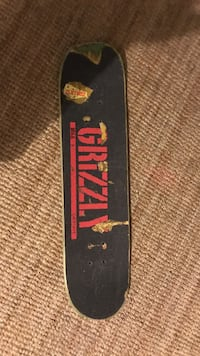 black and red Grizzly skateboard deck Surrey, V4N 6P2