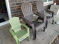 Patio chairs from Lowes