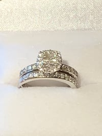 14K WG Wedding Ring Set