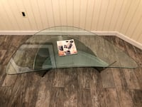 Contemporary steel and Glass table Annandale