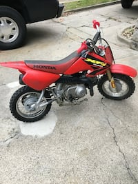 Red, black, and yellow Honda XR