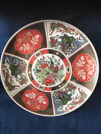 round white and red floral ceramic plate Mississauga