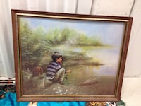 brown wooden framed painting of woman Kelowna, V1X 4G7
