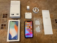 iPhone X 256GB Silver Unlocked w/ Mous Case and Screen Protector Las Vegas, 89119