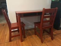 Kid's Wooden Table + 2 Chairs 39 mi