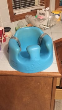 baby's blue Bumbo floor seat Barrie, L4M 3H9