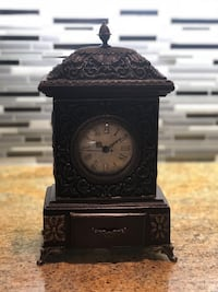 VINTAGE table clock with small drawer Vaughan, L0J 1C0