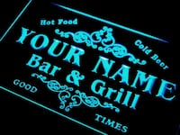 Personalized Custom Bar & Grill LED Light  Mount Holly, 28120