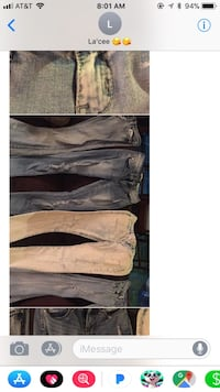 Junior size 5 jeans 4 pairs great condition