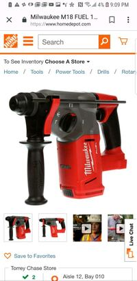 red and black Milwaukee cordless hand drill Houston, 77086