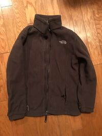 North Face Zip Up- brown, size kids large (also fits women's size small) 568 mi