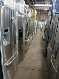 Stainless steel French doors refrigerator working  Baltimore, 21223