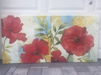 Red and yellow flower painting Ocean, 07712