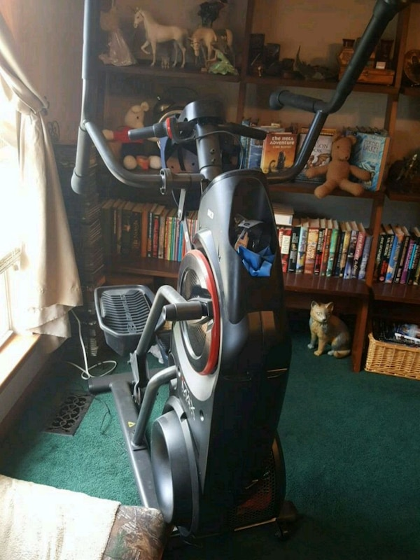 gray and black elliptical trainer