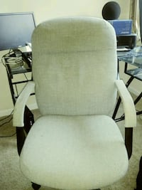 white padded brown wooden armchair Silver Spring, 20901