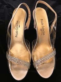 Silver clear with crystal shoes sandals