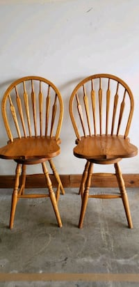 two brown wooden windsor chairs Gray, 37615