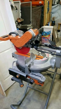 gray and orange Ridgid miter saw Vancouver, 98682