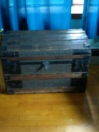 Antique trunk, chest North Berwick, 03906