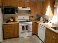 white and brown wooden kitchen cabinet Sherwood Park, T8H 2N6
