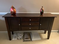 Dark brown hutch. 3 drawers and 2 doors Ashburn, 20148