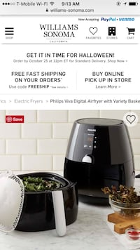 Philips Viva Digital Airfryer with Variety Basket, Black La Cañada Flintridge, 91011
