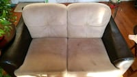 two brown suede padded sofa chairs Pickering, L1Y 1E3