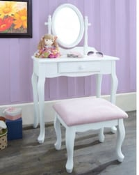white wooden vanity table with mirror Arlington, 22202