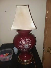 red and white floral table lamp Fort Smith, 72901
