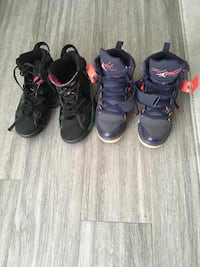 Two pairs of Jordan sneakers size women's 8/youth size 6Y for $60 Calgary, T2T 0H8