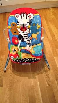 småbarns Fisher-Price Zebra bouncer stol