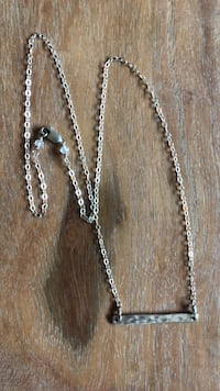 Beautiful sterling silver bar necklace San Luis Obispo