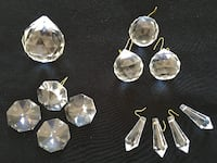 Chandelier Lamp clear CRYSTAL prism pendant decor  $ 5 up Aurora