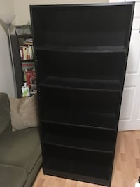 Black five/shelf adjustable bookcase Washington, 20005