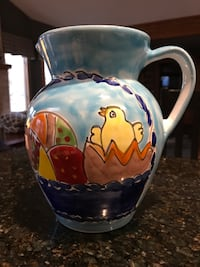 Easter pitcher, plates, spoon rest & trivet( not in picture)