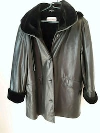 Manteau simili cuir large