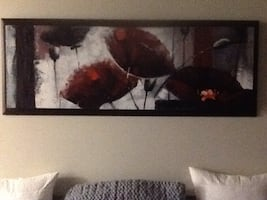 Beautiful hand painted wall picture it is raised 2 inches from frame