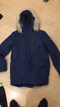 Blauer zip-up-parka tommy hilfiger