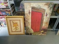 two paintings of red door and yellow petaled flowers Oviedo, 32765