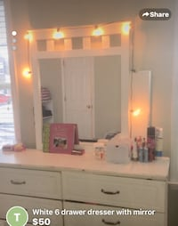 White dresser reduced to 30 Raleigh, 27604