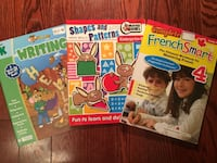 3 workbooks for young children  Mississauga, L5M 8C2