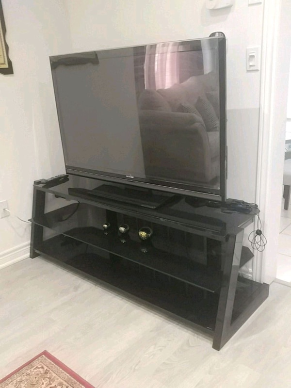 TV, TV STAND and PROTECTIVE TV SCREEN