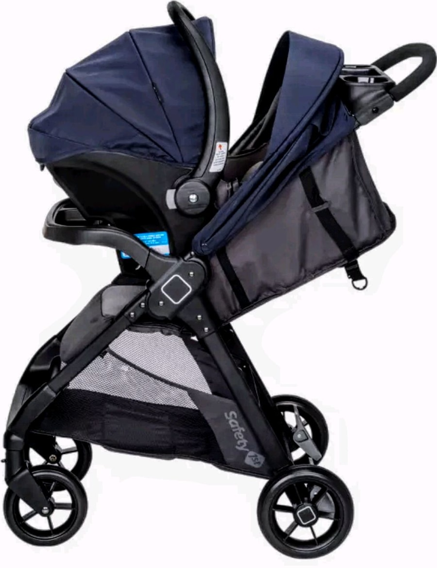 Safety 1st Smooth Ride Travel System with OnBoard 35 LT Infant Car Seat Monum...