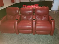 Red Leather Theater Seating Bel Air