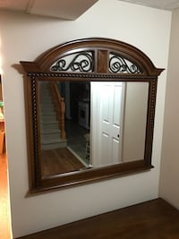 Large mirror with wood frame  Newmarket, L3Y 7B3