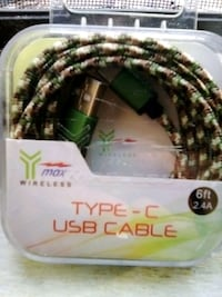 Type-c USB cable 6 ft long